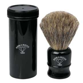 1930 GRAY BADGER BRISTLE TRAVEL SHAVING HAIRBRUSH