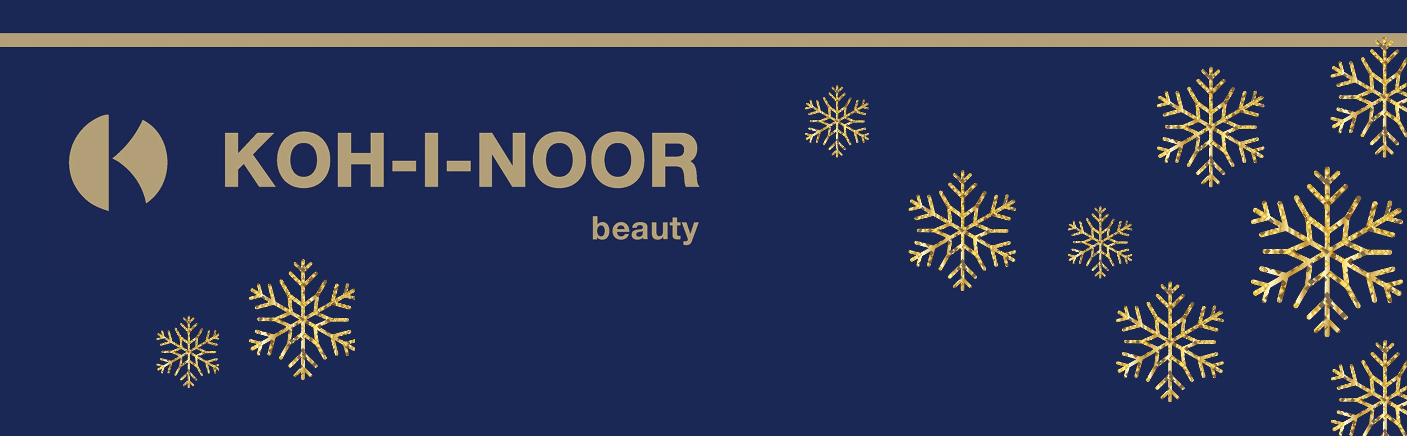 Koh-I-Nor Beauty web banner_2000x620 with snowflakes